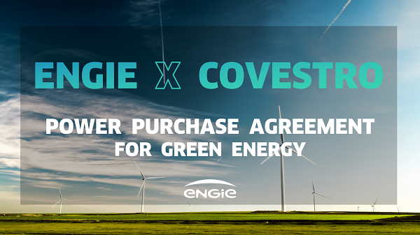 ENGIE x Covestro for Power Purchase Agreement for green energy